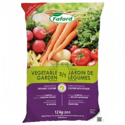 Terreau 3/1 pour jardin de légumes